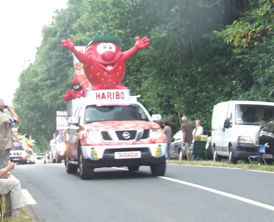 Here comes the Haribo car!