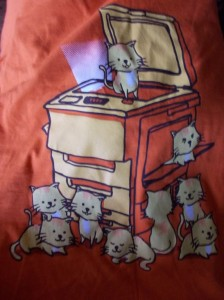 birthday tshirt cat