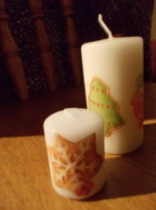 serviettage candles