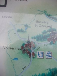 pays du boussac map our lake