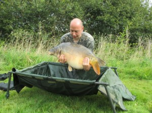 Karl Douglas and The Horse, the biggest fish (we think) in Notaire's Lake