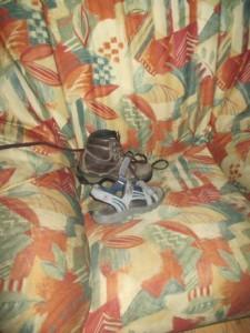 Tobi's shoe stash