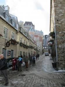 Here's our tour group in one of the old streets